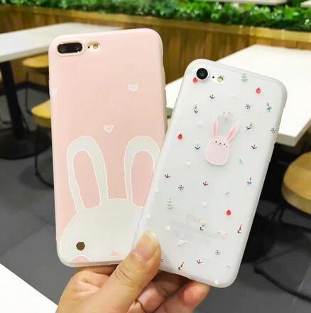 【SZ13】OPPO R9s手機殼 磨砂粉嫩兔子軟殼 R9 plus手機殼 R9 r9s plus浮雕保護套 R11手機殼