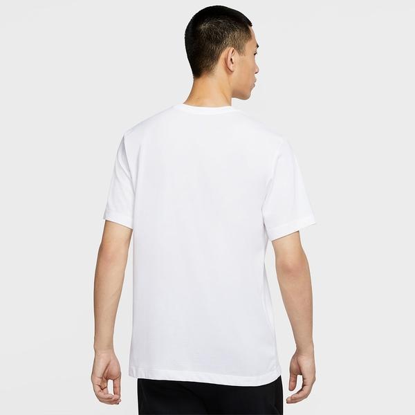 """【現貨】Nike Dri-FIT """"Just Do It."""" 男裝 短袖 棉質 休閒 印花 白【運動世界】CV1076-100"""