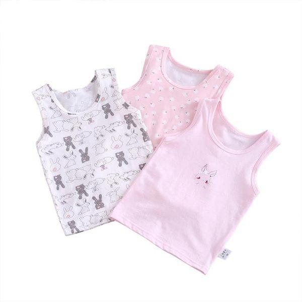 兒童背心女純棉薄款夏季汗衫女寶寶上衣女童嬰兒小背心夏童裝內衣 新知優品
