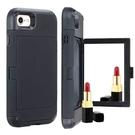 IPhone XR手機殼插卡創意 蘋果11Pro Max手機套 蘋果X/Xs Xs Max保護套 化妝鏡子iPhone6/6s/7/8保護殼