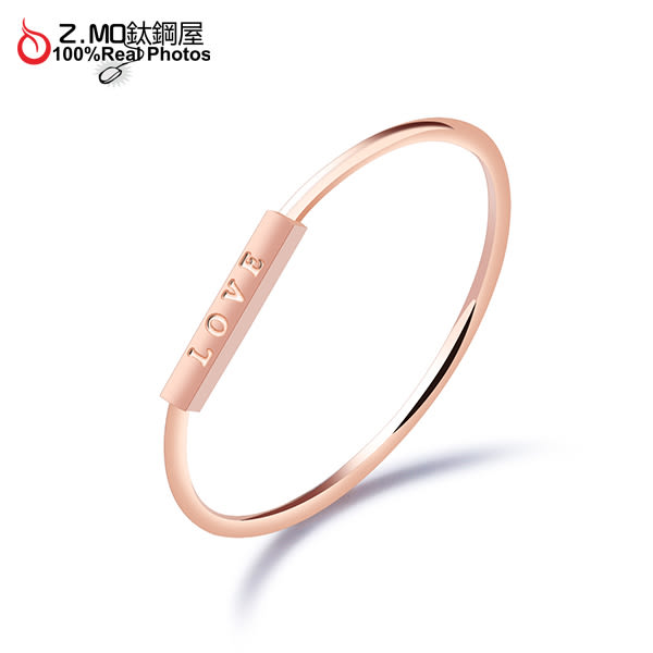 316L白鋼戒指 不生鏽 LOVE立體方塊特殊設計 簡約 女生禮物推薦 單只價【BKS534】Z.MO鈦鋼屋