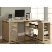 康迪仕複合式電腦書桌-淺木色/電腦桌/工作桌/辦公桌 & DIY組合傢俱