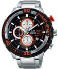 ALBA 雅柏 SignA 疾速奔馳計時限量手錶-黑x銀/50mm VD57-X048D
