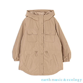 「Hot item」溫暖雙口袋連帽大衣外套 - earth music&ecology