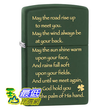 [104 美國直購] Zippo Irish Blessing Pocket Lighter 打火機