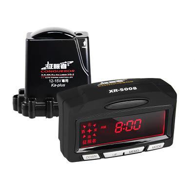 征服者 GPS XR-5008 紅色背光模組分離式雷達測速器 固定/流動測速