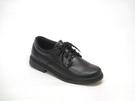 12035 愛麗絲的最愛 台灣製舒適軟底輕鬆好穿全黑平底包鞋/學生鞋/上班鞋/黑色皮鞋/男款皮鞋