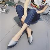 正韓新品時搭包頭半拖鞋夏季尖頭涼拖鞋女鞋