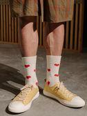 及膝襪 HELLO MONDAY襪子男女春秋中筒愛心棉襪潮白色長襪韓版運動學院風 莎瓦迪卡