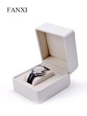 新款手錶禮品盒(圓角)pu皮手錶包裝盒車線工藝黑白色『艾麗花園』