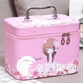 化妝包小號便攜韓國簡約可愛少女心大號大容量收納盒品化妝箱手提-奇幻樂園