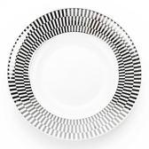 HOLA 緻銀骨瓷湯盤 23cm 線條
