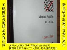 二手書博民逛書店A罕見Course in Probability and Sta