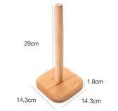 【TT】榉木卷紙收納架紙巾架 廚房用紙創意實木立式衛生紙卷紙架