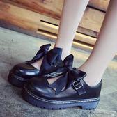 娃娃鞋 軟妹厚底日系可愛圓頭小皮鞋 艾米潮品館