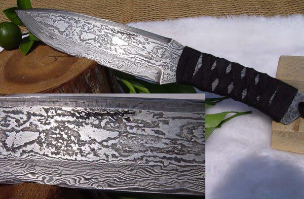 郭常喜與興達刀具--郭常喜限量手工刀品-積層鋼藝術刀(A0056)