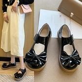 娃娃鞋 復古原宿小皮鞋厚底魔術貼新款百搭學生軟妹蝴蝶結淺口大頭 - 風尚3C