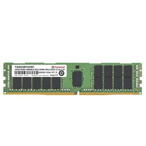 【免運費-限量】Transcend 創見 TS4GHR72V6C REG DDR4-2666 32GB 伺服器記憶體
