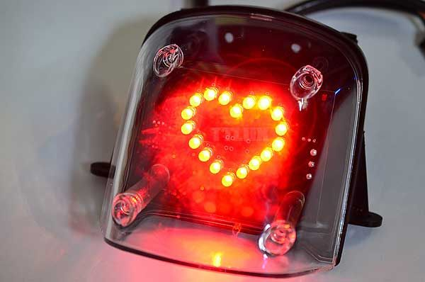 MANY100 110愛心煞車燈板(尾燈、剎車燈、後燈)