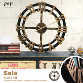掛鐘 時鐘 靜音鐘 英倫工業復古羅馬 太陽牌機芯 創意個性 仿舊 品歐家具【C4】