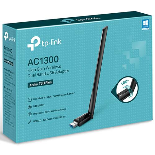 TP-LINK Archer T3U Plus AC1300 MU-MIMO 雙頻WIFI網路 USB 無線網卡 大天線遠距離接收