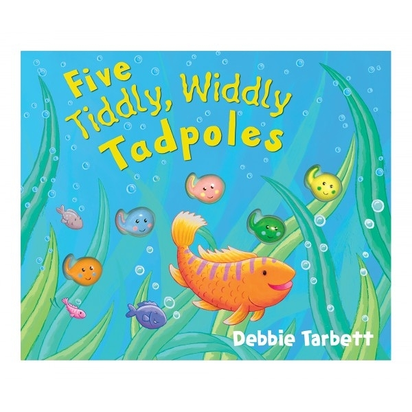 Five Tiddly,Widdly Tadpoles 五隻小蝌蚪探險記 精裝硬頁書