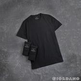 【GIORDANO】男裝簡約素色純棉圓領短袖T恤(三件裝)- 29 標誌黑