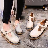 大碼小皮鞋女 夏季2018新款百搭韓版復古學生粗跟休閒單鞋 XY5817【KIKIKOKO】