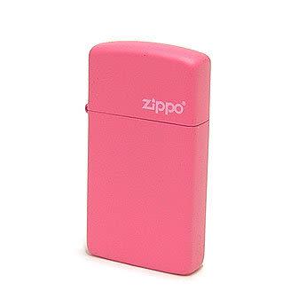 正版原裝 ZIPPO打火機 LOGO字樣-粉紅烤漆24242ZL(窄)