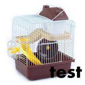 倉鼠籠 送飼養禮包小倉鼠籠子雙層大城堡鐵絲窩透明別墅齊全套餐用品T