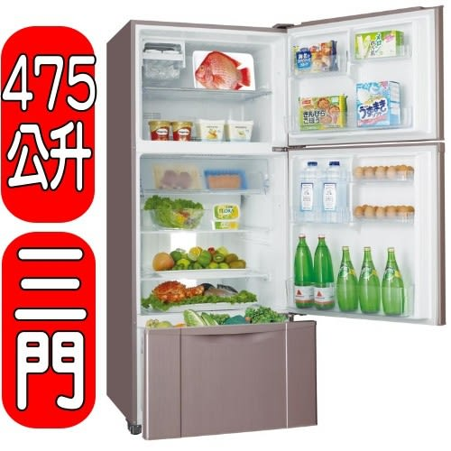 SANLUX台灣三洋【SR-B475CV】475公升變頻三門電冰箱