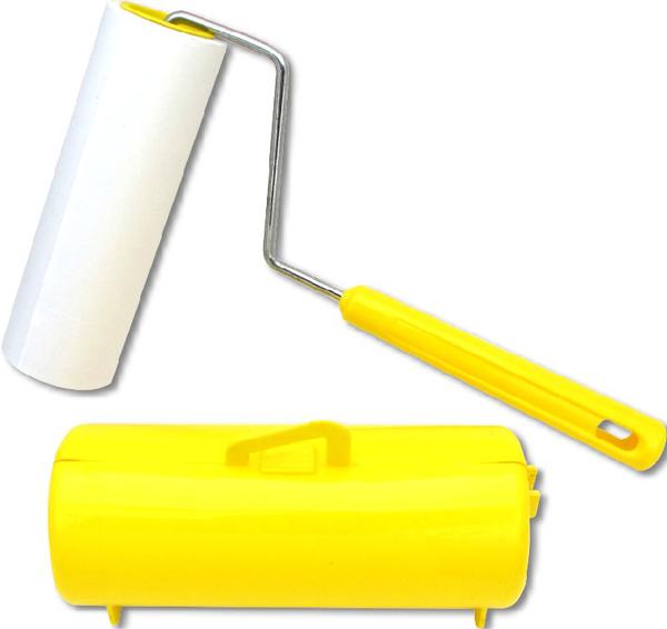 【膠黏拖把 90周】黃色 膠黏滾筒拖把 膠黏滾筒補充包  膠黏拖把補充包 膠粘拖把 膠黏紙拖把