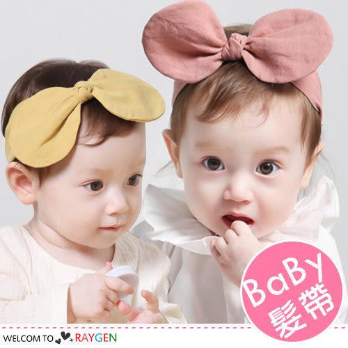 韓版大兔耳蝴蝶結寶寶髮帶 髮箍