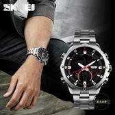 時刻美韓版男錶電子錶多功能大錶盤防水學生運動手錶男士雙顯 ~黑色地帶