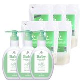 《台塑生醫》Dr's Formula嬰幼童奶瓶洗潔劑促銷組(3瓶+6包)