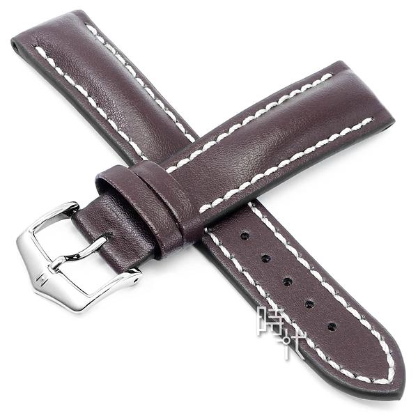 【台南 時代鐘錶 海奕施 HIRSCH】小牛皮錶帶 Heavy L 棕色 附工具 01475010 百米防水