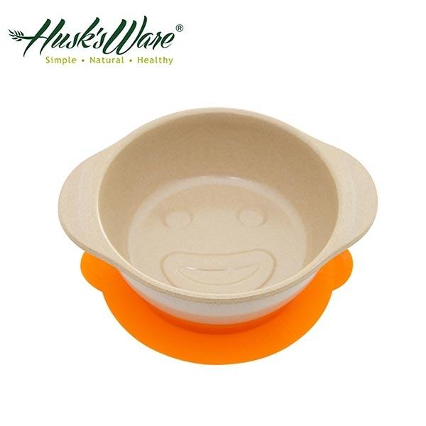 【南紡購物中心】【美國Husk's ware】稻殼天然無毒環保兒童微笑餐碗-橘色