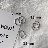 耳環-個性s925純銀大小圓圈耳環男女耳圈日韓國簡約氣質耳環耳釘女 好再來小屋