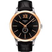 [結帳再折]TISSOT 天梭 Classic系列經典機械腕錶(黑-41mm-T9124284605800)