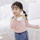 女童T恤韓版純棉中小童打底衫 俏女孩