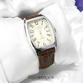 手錶 獨特波紋錶盤酒桶造型皮革腕錶 原廠公司貨 范倫鐵諾Valentino  柒彩年代【NE1120】單支價格