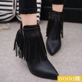 尖頭馬丁靴秋冬新款女靴