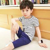 【全館】現折200男童夏裝新款套裝兒童中大童兩件套夏季童裝休閒短袖正韓潮衣