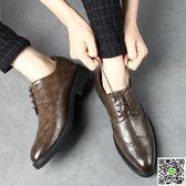 皮鞋 皮鞋男士韓版英倫內增高休閒男鞋真皮商務正裝黑色工作婚禮潮鞋子 聖誕節狂歡
