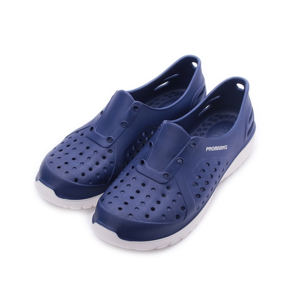 PROMARKS 寶瑪士 彈力洞洞鞋 藍 男鞋