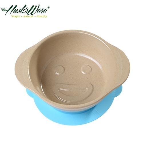 【南紡購物中心】【美國Husk's ware】稻殼天然無毒環保兒童微笑餐碗-藍色