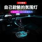 汽車氛圍燈USB冷光線裝飾燈車內飾LED隱形導光條【輕派工作室】