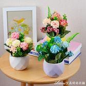 玫瑰花仿真花藝套裝 花卉盆栽花瓶假花 家居裝飾花擺件絹花繡球花艾美時尚衣櫥