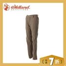 【Wildland 荒野 女款 彈性SUPPLEX可調節長褲《黃卡其》】0A51305/春夏款/彈性長褲/休閒長褲