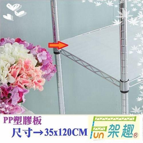 【Fun架趣】層架專用配件--35x120cm網片專用PP塑膠板【波浪架 鐵力士架專用/波浪層架/組合家具】